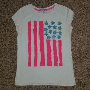 Girls 4th of July short sleeve